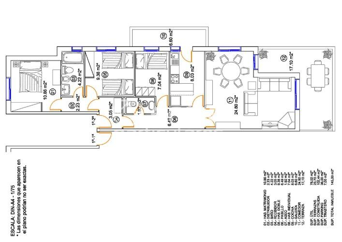 Precioso piso de 100 m2-3 habitaciones-En venta