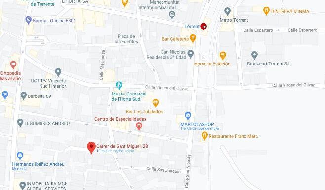 PLANO UBICACION CALLE SAN MIGUEL 28 Torrent Valencia
